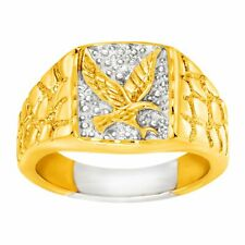 Men's Eagle Signet Ring in 14K Gold-Plated Sterling Silver