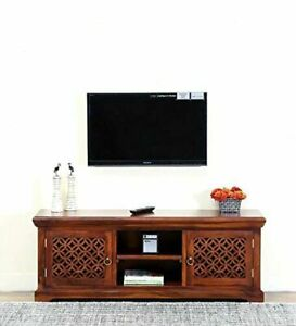 Handicraft Wooden TV Cabinet (Honey) for Home / Office Furniture