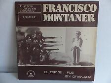 FRANCISCO MONTANER El crimen fue En Granada ldx 74537 Dédicacé a l interieur