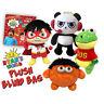 "Ryan's World Mystery Plush Blind Bag Gus, Panda, Moe (About 12"") Large NEW!!!"