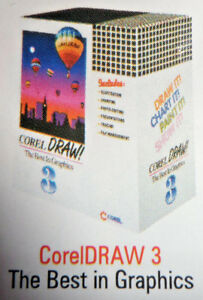 Corel DRAW 3 1 Disc - Windows Software - Red Label - Collectors - Geek