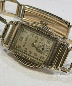 Bulova 1934 LONE EAGLE W/Orig Band. Mint Case. Runs and Keeps Time