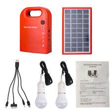 PT_ Cn _ Portatile Pannello Solare Power Bank Generatore Sistema Bulbi Kit Ene