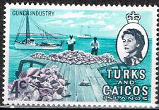 British Turks Caicos Islands Marin Life Seashells stamp 1962 MLH
