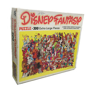 Disney Fantasy 300 Extra Large Pieces Jigsaw Puzzle Vtg 1981 Whitman COMPLETE
