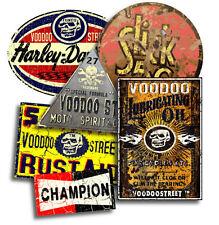 Chopper Custom Corcho paquete de pegatinas por Voodoo Calle ™, impermeable de vinilo, Calidad