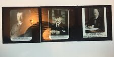 3 x Rare Vintage Glass Magic Lantern Slides, Members of Parliament MP's c1900