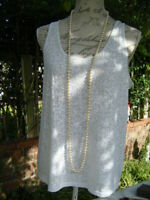 Vintage art deco flapper style glass pearls beads necklace