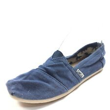 Toms Classic Navy Blue Canvas Slip On Flats Shoes Women's Size 7 M*