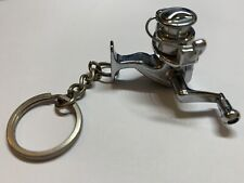 """Novelty fishing spinning reel key chain works great 1"""""""