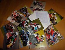 Motorsport collectors fan cards decoupage papercraft motorcycle motorbike racing