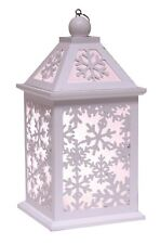 White Christmas LED Lantern with Snowflakes Cut Out Design