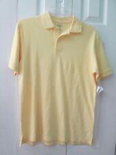 NWT TALBOTS Kids Short Sleeve Yellow 100% Cotton Polo Shirt, Size 16