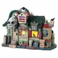 Lemax Spooky Town Monster Hunting Supplies Lighted New IN BOX
