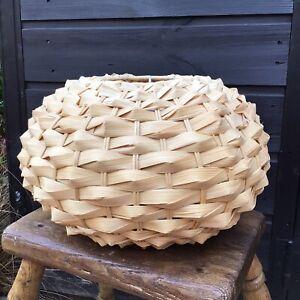 Super Vintage Woven Natural Bamboo Pendant Lamp Shade Boho Style Tiki Bar Decor