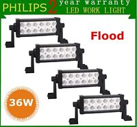 4X 8inch 36W LED Work Light Truck 4WD Offroad Driving ATV Fog Flood Lamp Bumper