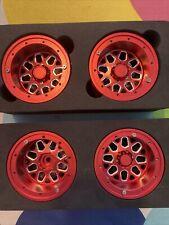 4PCS 1/10 RC Car Metal 2.2 inch Beadlock Wheel Rims 12mm Hex, Extra Wide