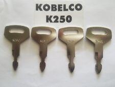 (4) Kobelco Excavator, Heavy Equipment Keys OEM Logo K250 fit Case, Kawasaki !!