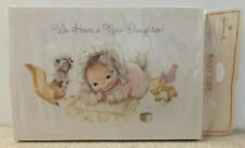 Vtg. Hallmark Baby Girl Birth Announcement Note Cards *10 Cards & Envelopes