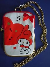 RARE 2008 MY MELODY MINI BAG / COIN BAG / COIN PURSE, STORAGE I.D BAG WITH STRAP