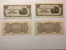 4 WWII The Japanese Government 50 Fifty Centavos PI