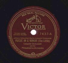 Leopold Stokowski, Philadelphia Or on 78 rpm Victor 7437: Fugue in G minor Bach