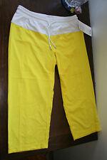 LULULEMON STEP LIVELY CROP 6  SIZZLE NIMBUS Yellow/White [BNWT: $ 88.00]