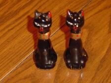 OLD JAPAN CLAY CAT SALT & PEPPER SHAKERS