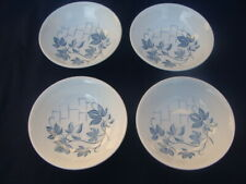 Royal Knight Ironstone Blue Ivy Pattern, 4 Cereal Salad Soup Bowls.  England