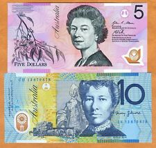SET Australia, $5-10, 2013, Polymer, P-57-58, UNC