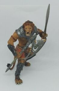 """Papo knights LION MUTANT Fantasy 4"""" Figure Warrior beast Mythical Fighter"""