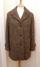 The Wool Weavers of Ireland women's warm brown short Irish tweed coat M uk 12/14