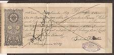 Austria/Österreich/Alemania. 1890. impreso 5kr ingresos en cheque de un Ne
