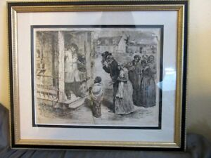 "ORIGINAL 1870 Antique Black Americana illustration. ""Merry Xmas Ole Massa"""