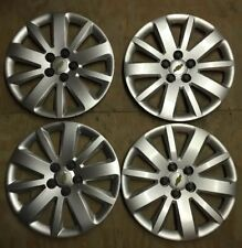 "Chevrolet Cruze # 3997 16"" Hubcaps / Wheel Covers OEM # 09598765 USED SET 4"