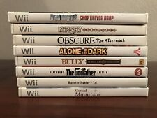 Nintendo Wii 8 Game Lot Monster Hunter, Far Cry, Dead Rising, Bully, Godfather