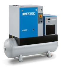 MARK SCHRAUBENKOMPRESSOR MSM 5,5 DX MINI 5,5 kW - Behälter - Trockner - NEU