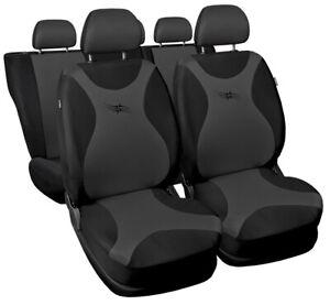 Seat covers fit Ford Fiesta Mk5 Mk6 Mk7 FULL SET  black / grey sport style