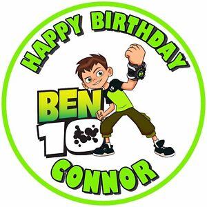 "7.5"" Ben 10 Birthday Edible Personalised Cake Topper"