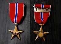 WWII US Bronze Star Medal WW2 U.S. Army Military Order Badge Ribbon Pin Insignia