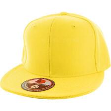 Plain Fitted Flat Bill Cap Visor Baseball Basic New Blank Solid Hat Sport Colors