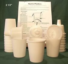 Oyama Planter 2 ½ � white self watering pots African violet Set of 12