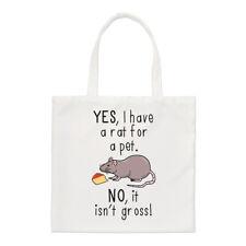 Sì, ho un ratto per un animale domestico non non è al lordo Small Tote Bag-Divertente spalla