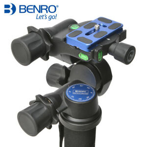 BENRO GD3WH 3D Magnesium Alloy Tripod Geared Head With PU70 QR Plate for DSLR