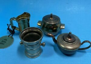 Dollhouse Kitchen Accessories Lot 1:12 Miniatures Teapot Pitcher Old Time Ware