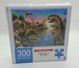 Eaton Series - Jurassic River - 300 piece Jigsaw Puzzle (Dinosaurs, T-Rex)