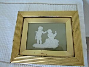Wedgwood Sage Green Plaque 7 1/2 x 5 1/2, mid 1800's, very lovely
