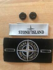 Stone Island Replacment Or Blanc Badge avec boutons et étiquette
