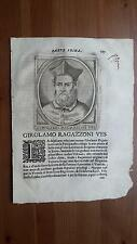 1664 Calvi Scrittori Bergamaschi: Girolamo Ragazzoni Vescovo di Bergamo e Novara