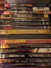 DVD 15 +1 FREE Movies - The Patriot Braveheart Troy Gladiator Full Metal Jacket